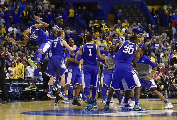 "Yahoo Sports on Twitter: ""#Kentucky ends #WichitaState's perfect season.  (PHOTOS) --> http://t.co/60wnCx7U2h (@Dish) #WatchAnywhere  http://t.co/Rmke6FRDW3"""