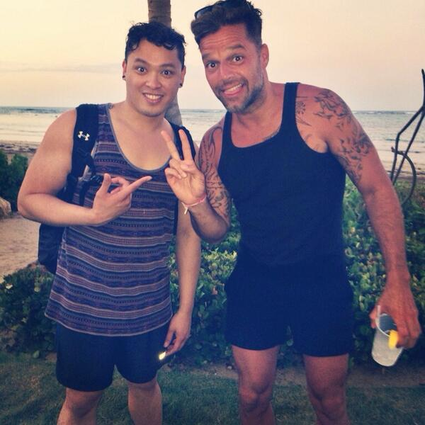 Michael delarosa on twitter just hanging out with ricky martin in michael delarosa on twitter just hanging out with ricky martin in puerto rico two singers meet httpta7vpg9yx4f m4hsunfo
