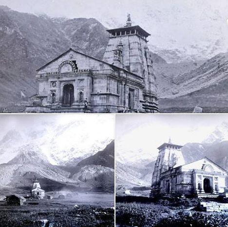 """Twitter पर Indian History Pics: """"Old Photograph of the famous Kedarnath Temple in Garhwal Himalaya, Uttrakhand (1882) http://t.co/mAwiJ1sQzb"""""""