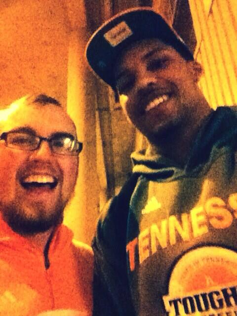 @JarnellStokes @Vol_Hoops Welcome back VOLS!! #Sweet16Selfie with the new all time rebounder at UT!!  #TougherBreed http://t.co/WAVjS0wgGJ