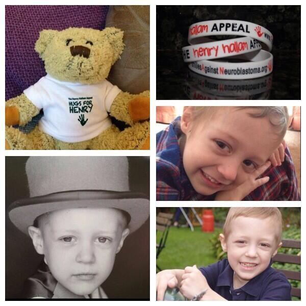 RT @Hugs4Henry: @carolvorders morning pls can we get a #RT for little #henryhallam #hugs4henry #neuroblastoma #raisingawareness http://t.co…
