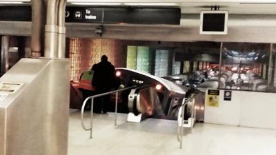 CTA Blue line train runs up the escalator at ORD- @WBBMNewsradio http://t.co/ClLkUpUJxP http://t.co/3Nkk9FNkAQ
