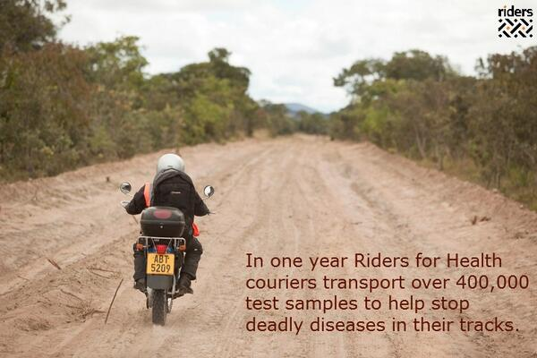 Motorcycle couriers are key in the fight against TB. Read more here - http://t.co/1fW6XHK98D @StopTB #WorldTBDay http://t.co/BWyQF2X3Lz