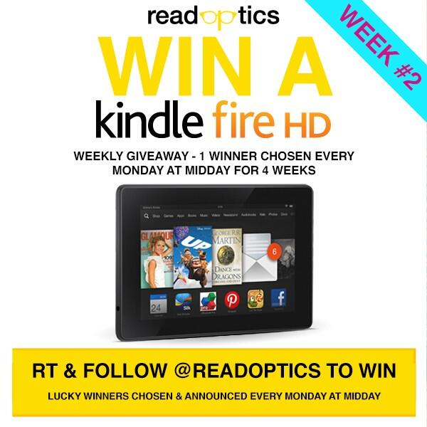 Twitter / ReadOptics: GIVEAWAY! WEEK 2 - RETWEET ...