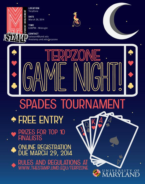 TerpZone Game Night: Spades