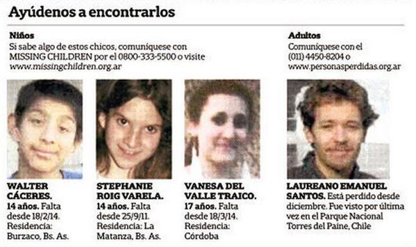 Niños y adultos perdidos: ayúdenos a encontrarlos | (vía @fundlanacion) | cc @missingcharg @adultosperdidos | http://t.co/HS7JBQD1ql