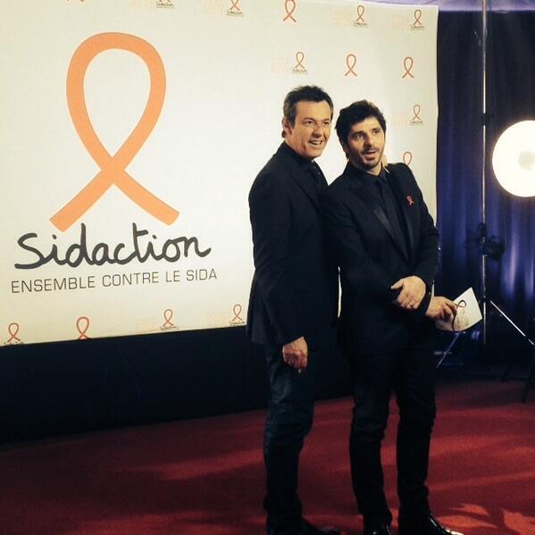 Aujourd'hui tournage du sidaction au côté de Jean-Luc Reichmann http://t.co/jJGLLFgO1P