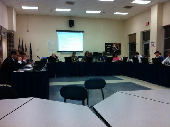 "And now we're @ #Pottstown School Board just in time for them to break for a ""short"" closed-door executive session. http://t.co/Wj9mK7m2AL"