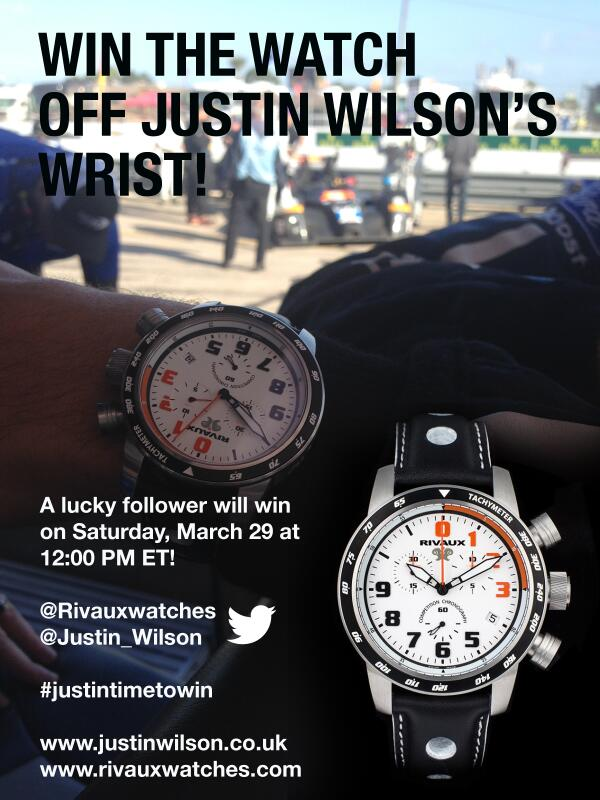 PR-Follow @RivauxWatches and @Justin_Wilson and RT this tweet w hashtag #JustInTimetowin to win Rivaux watch http://t.co/fzLW2AVXo9