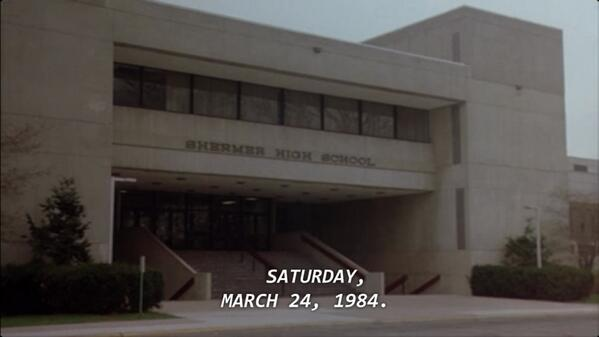 30 years ago the Breakfast Club met for detention! Dang.