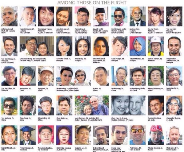 The faces of many of those onboard #mh370 http://t.co/yqaoCrQOmR