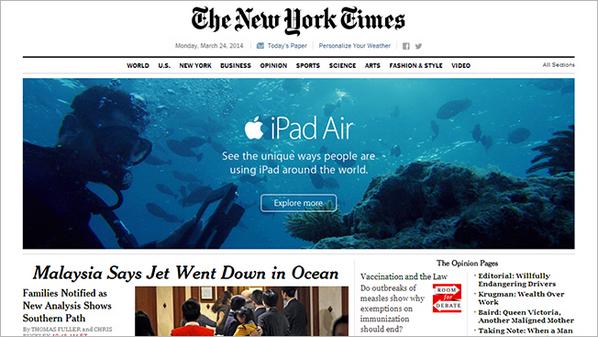 Bad timing pour une pub en dessous de l'eau Apple... #avionsousl'eau http://t.co/8SCoTFEUdC