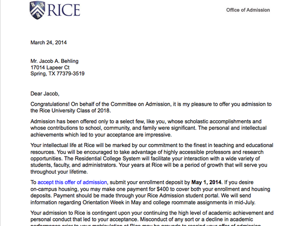 Can I get into Rice University?