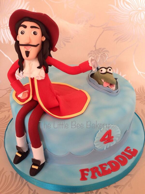 Admirable Thelittlebeebakery On Twitter Captain Hook Cake Captainhook Personalised Birthday Cards Arneslily Jamesorg