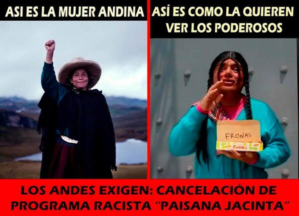 "Diario La República on Twitter: ""En medio de insultos por Twitter, Hilaria Supa pidió que '#LaPaisanaJacinta' deje de emitirse http://t.co/DwMNS6i2sS http://t.co/EqtzFFlQ6S"""