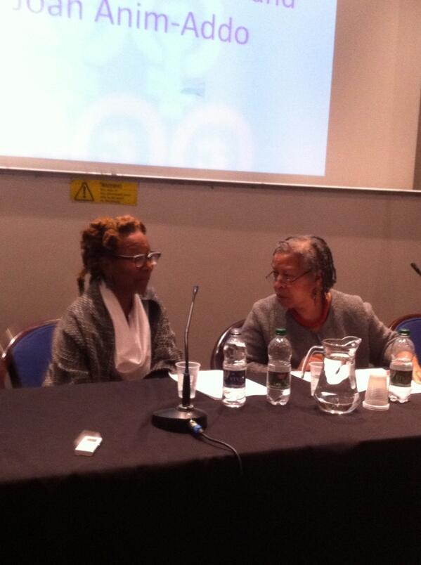Kim Chrenshaw & Joan Amin Addo @CGS_SOAS 'When the bodies are not there, the ideas are not going 2B there either' http://t.co/NIHa9hPu1F