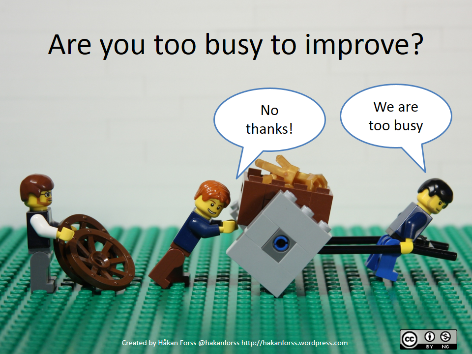 Twitter / GautamGhosh: Too busy to improve? #innovation ...