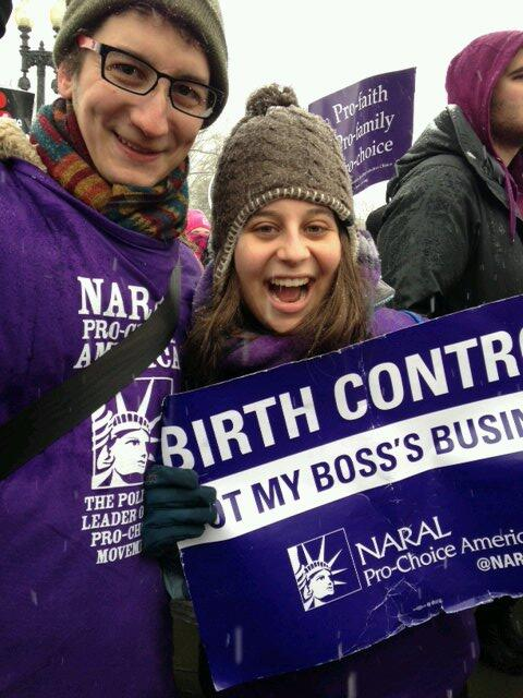 Pro-faith, pro-family, pro-birth control - me and @lbarsk repping @NARAL at #NotMyBossBusiness! http://t.co/H28D8hcq3n
