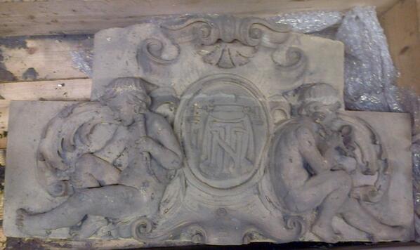 #MyMuseum object 4 #MuseumWeek. telephoning cherubs rescued from a Leeds National Telephone Co exchange last week http://t.co/w0ZMZnoANa