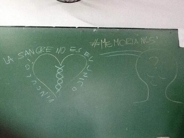 """#memorianls """"La sangre no es el único vínculo"""" hablamos sobre #abuelasdeplazademayo http://t.co/MpfkV9Fguq"""