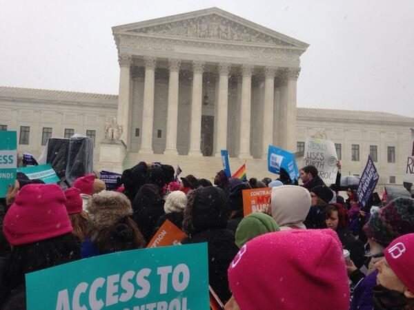 We're hearing from students, health care providers, women & members of Congress at #NotMyBossBusiness rally! http://t.co/jrej46cKQR