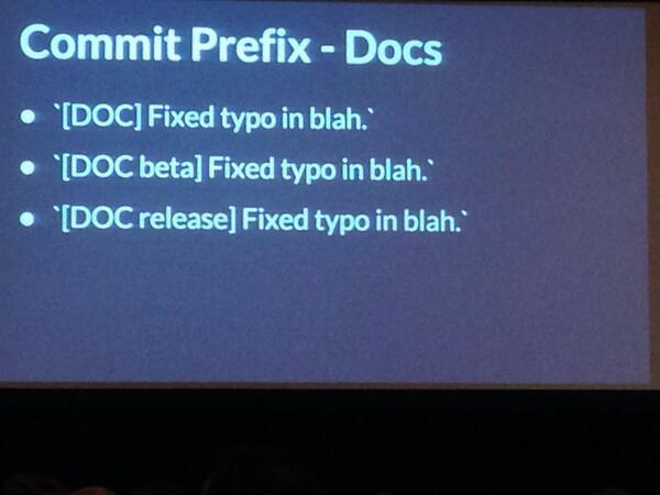 Ember.js doc commit prefixes