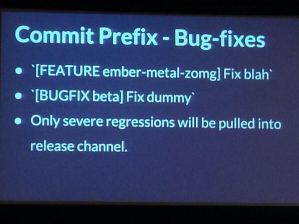 Ember.js commit prefixes