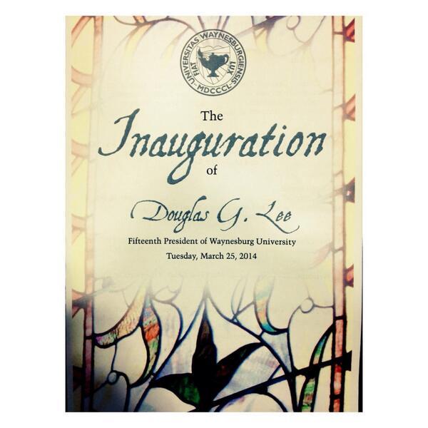 Congratulation, President Lee! #DougLeeIsHere #InaugurationXV #ShowMeWu http://t.co/bq3q2WXo4F