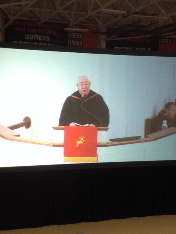 Glad to here and see Rev. Wilson behind the pulpit #DougLeeIsHere http://t.co/8gIfA2wj0I