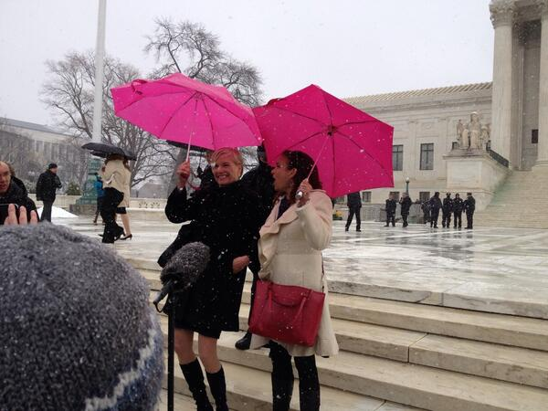 Not wind nor snow nor sleet can keep us from our repro rights! @CecileRichards http://t.co/JsGOvLKG3z #SCOTUS #NotMyBossBusiness