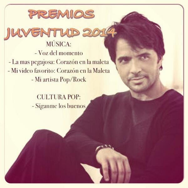 Quedan pocos días para nominar a @LuisFonsi en Premios Juventud!!! Entra ahora aquí: http://t.co/f7dDql5fIX #LF2014 http://t.co/NN5PdfhBcG