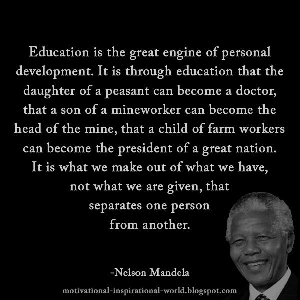 "Great Personal Development Quotes: Roy T. Bennett On Twitter: ""Education Is The Great Engine"