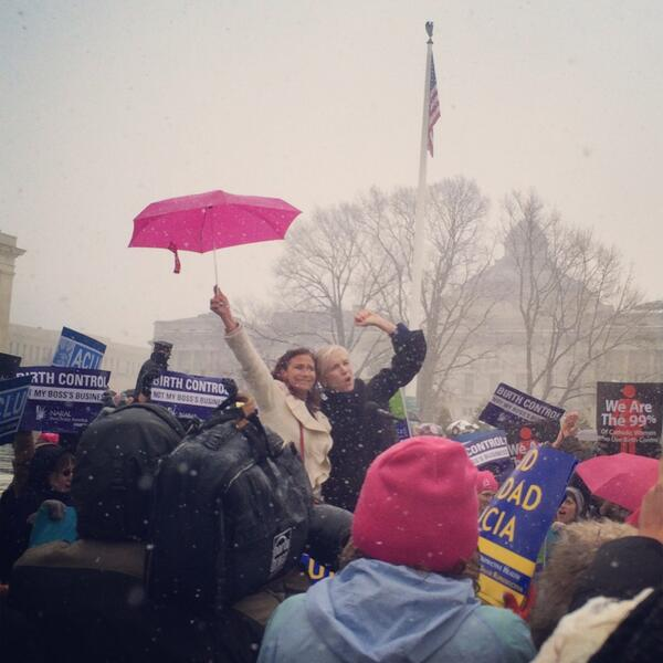 Amazing, hopeful finish to a beautiful morning at SCOTUS #sisterhood #NotMyBossBusiness @ilyseh @CecileRichards http://t.co/bSYl7Tfu4R