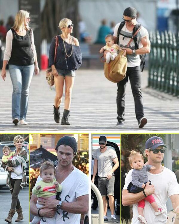 Photo of Elsa Pataky & her Son  Sasha Hemsworth