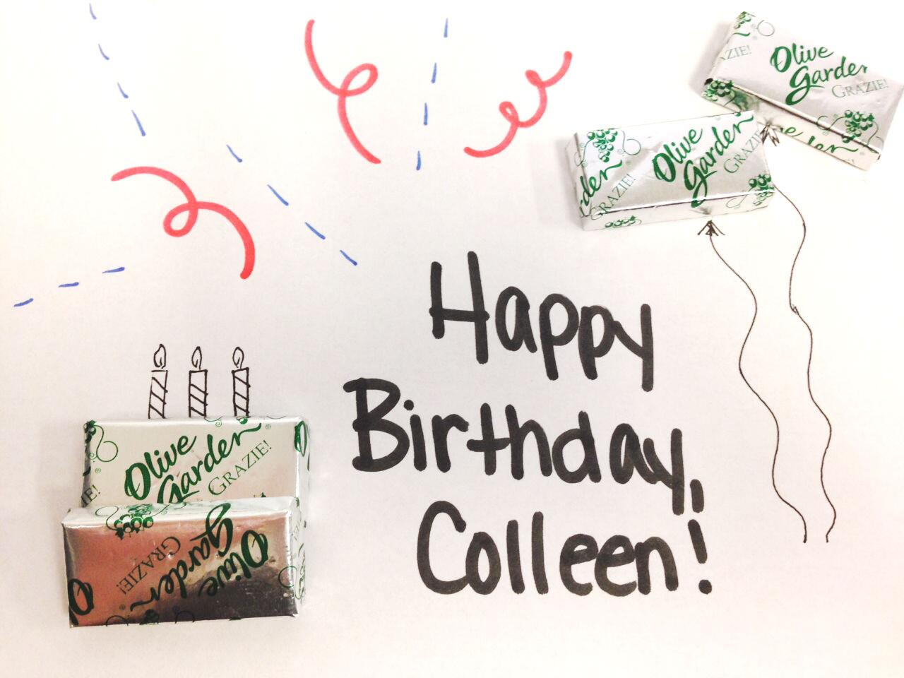 Olive Garden On Twitter Cmkinninger Happy Birthday Colleen We Hope You Have A Very Special
