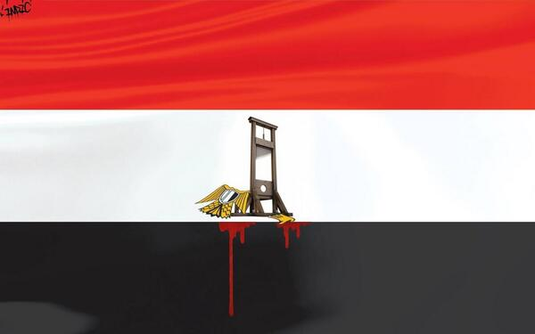 جمهورية الإعدام العربية #egyptexecution new flag of the republic of death penalty, imagined by a Tunisian artist http://t.co/OYFODnrp7V
