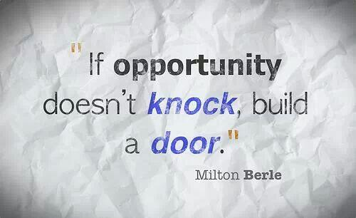 Twitter / Ludovic1000Club: If opportunity doesn't knock, ...