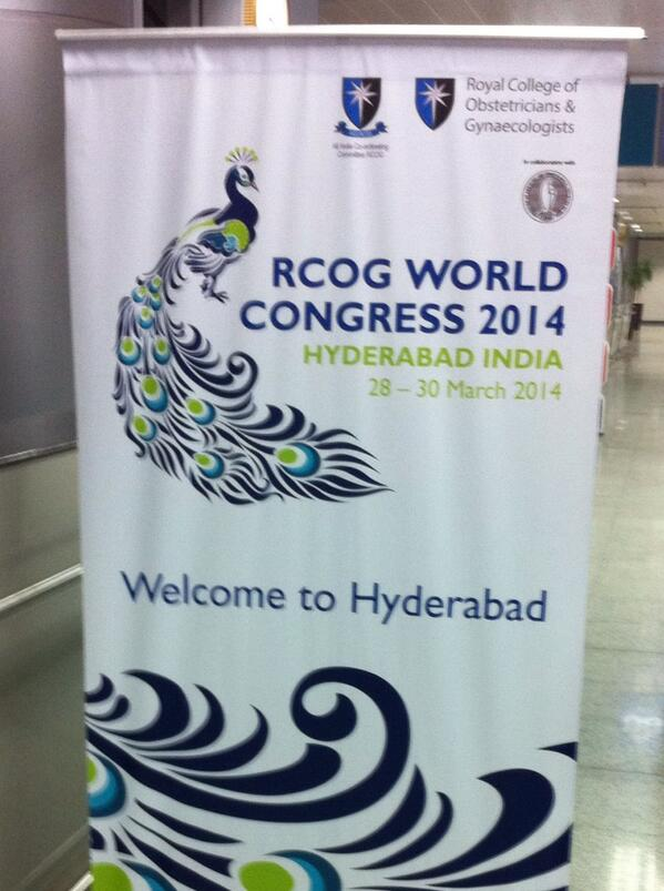 @RCObsGyn team arrive in Hyderabad for #rcog2014 http://t.co/3rQ3qyXXh0