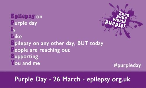 Happy #PurpleDay! Tweet with us your news and purple pics to show how you're raising awareness for #epilepsy today http://t.co/OH3OJ5kGzQ