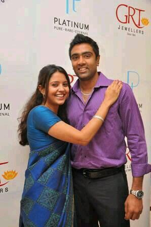 R Ashwin And His Wife Ashwin With his Wife P...