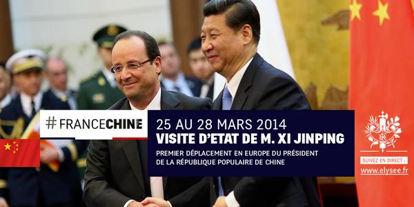 Visite d'État du président chinois M. XI Jinping > Retrouvez le dossier de presse http://t.co/HNlVGGdkee #FranceChine http://t.co/rSsYxACwXQ