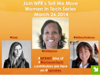 Thumbnail for #NPRWIT March 26: Soraya Darabi, Florentia Spires, Linda Maloney