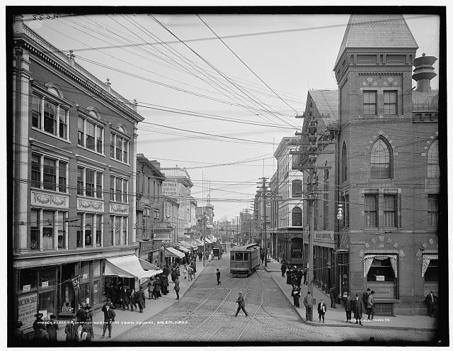 Essex Street in Salem, MA, Circa 1910
