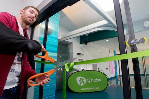 Huge thanks to our fantastic Ambassador @LeighHalfpenny1 for officially opening our new hydrotherapy pool today! http://t.co/Bcvh10YIAy