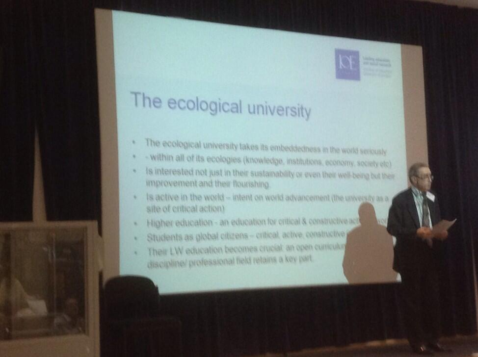 Twitter / suebecks: The ecological university takes ...