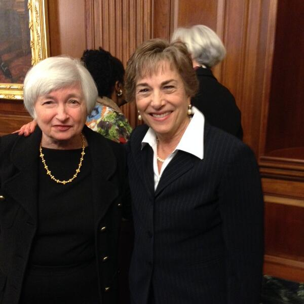 With Janet Yellen during a women's history month luncheon hosted by Leader @NancyPelosi yesterday! http://t.co/1dGoNJkwFx