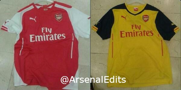 Leaked! Arsenals Puma shirts for 2014/2015 [Pictures]