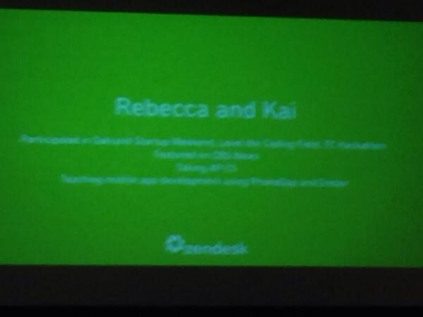 Powerpoint slide - Rebecca and Kai built app to notify food is available at local food banks.