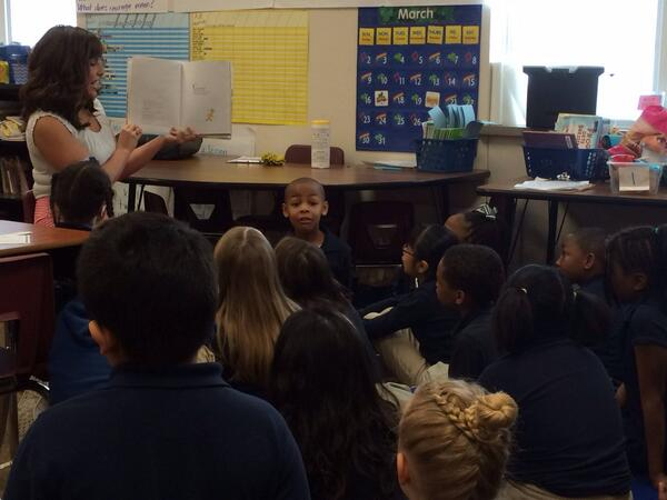 "Celebrating ""Nat'l Reading Month"" with the kids of @LansingCharter, & my favorite Dr. Seuss book. It was a blast! :) http://t.co/D8Cal7o6mD"