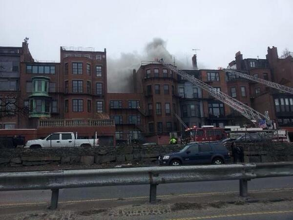 9th alarm scene, 298 Beacon Street, pic via viewer; #Fox25 http://t.co/M8oavoP8VW
